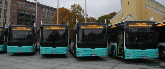 Tallinn har beställt 40 nya MAN-bussar till stadstrafiken. Foto: MAN.
