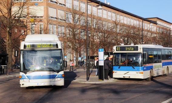 Västerås räknar med ett kraftigt ökat bussresande de kommande femton åren. Foto: Ulo Maasing.