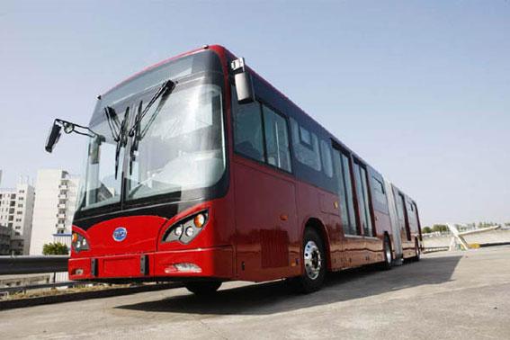 BYD kommer nästa år att börja producera helt eldrivna ledbussar. Foto: BYD.