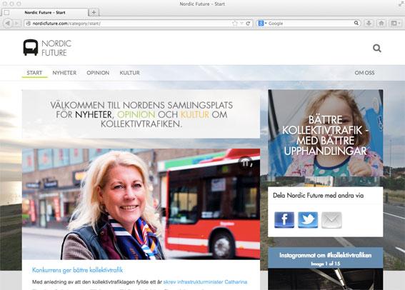 Nordic Future – ny sajt om kollektivtrafik.