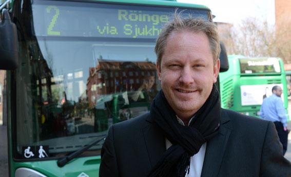 """""""Glädjande siffror"""" säger Skånetrafikens trafikdirektör Henrik Dagnäs om resultatet av Skånetrafikens stora provåkarkampanj. Foto: Ulo Maasing."""