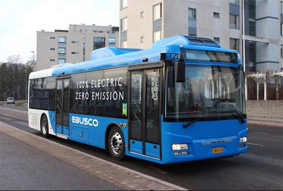 Veolia Transport Finland provar Ebusco elbuss. Foto: Ebusco.