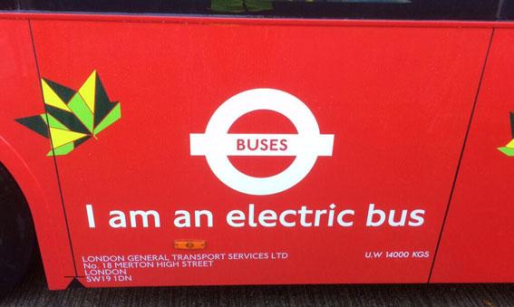 Nu testar även London helelktriska bussar.