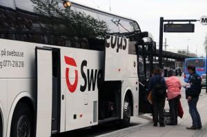 I expressbusstrafiken lyser tillgänglighetsanpassningen med sin frånvaro. Foto: Ulo Maasing.