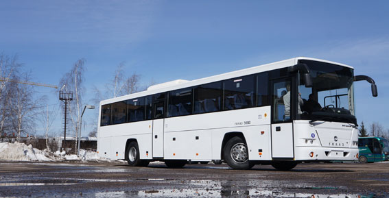 Golaz Voyage från ryska GAZ på Scaniachassi.