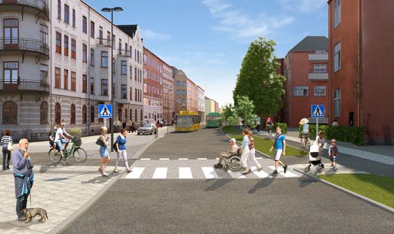 Södra Kaserngatan är en del av Kristianstadslänken.