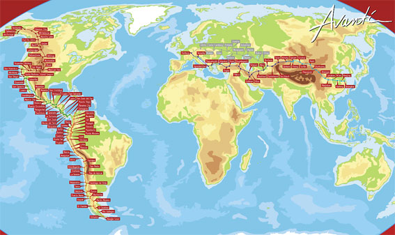 Så gick resan. Karta: Avanti Reisen.
