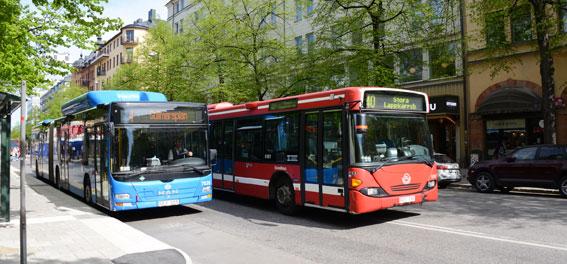 I Stockholm är 97 procent av bussarna tillgänglighetsanpassade. Foto: Ulo Maasing.