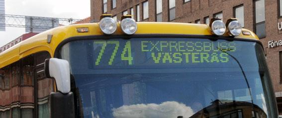 Gemensamt busskort och bättre kollektivtrafik krävs i Mälardalen anser fackförbundet Unionen. Foto: Ulo Maasing.