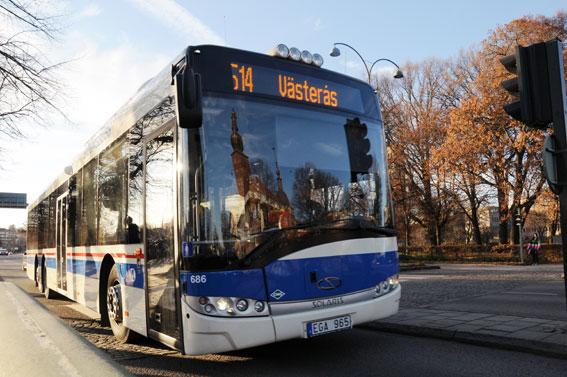 Vid årsskiftet kommer inte bara busstrafiken i Västmanland att skötas i egen regi av landstinget. Då tar man också över trafikreklamen. Foto: Ulo Maasing.
