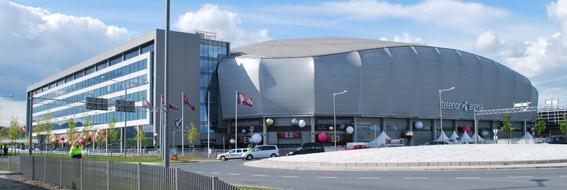 Telenor Arena i Oslo är platsen för Reiselivsmessen. Foto: Helge Høifødt/Wikimedia Commons.