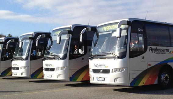 Flygbussarna etablerar den 1 mars en ny linje mellan Stockholm och Arlanda. Foto: Flygbussarna.