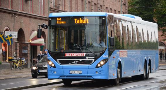 Resandet med expressbussarna i Göteborgsregionen ökade förra året med 21 procent. Foto: Ulo Maasing.