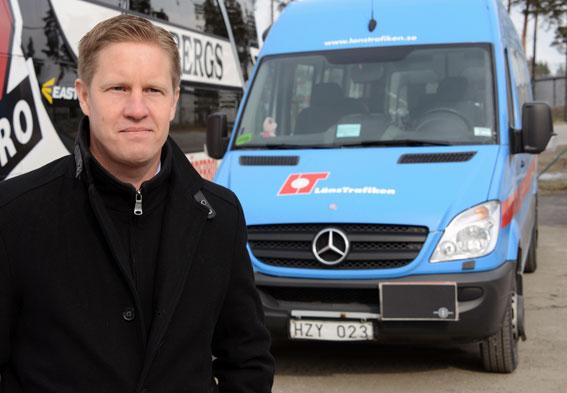 Patrick Lindberg på Lindbergs Buss i Örebro ser sig tvungen att varsla 113 medarbetare. Foto: Ulo Maasing.