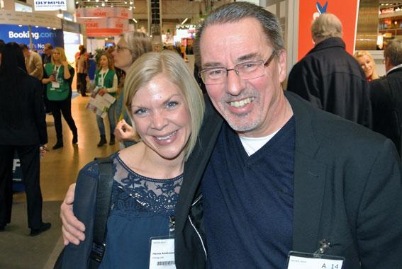 Viking Lines Hanna Andersson och Jan Karlsson fanns naturligtvis på plats. Foto: Ulo Maasing.