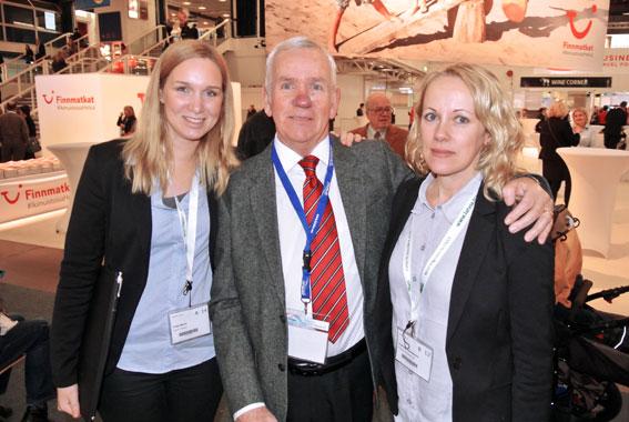 Tre gotlänningar på Matka: Susanne Samuelsson och Torgny Andersson från Gotland Excursions tillsammans med Frida Nehro, AB Carl E Ekman. Foto: Ulo Maasing.
