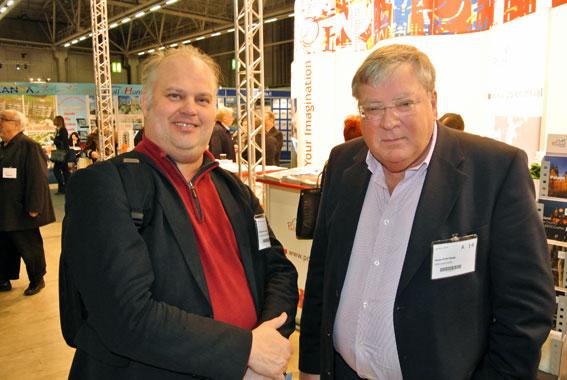 Göte Persson, Sveriges Bussföretag tillsammans med Hans-Erik Haag, Blåklintsbuss. Foto: Ulo Maasing.