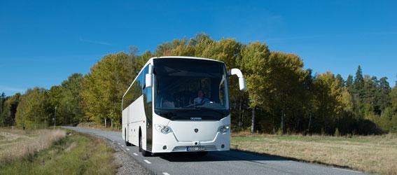 Såväl orderingång som leveranser ökade för Scania bussar under 2013. Foto: Scania.