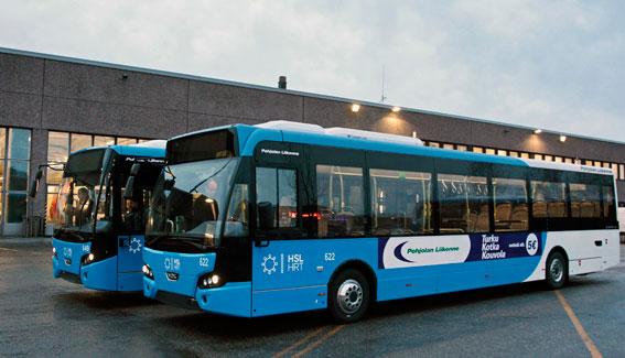 29 VDL Citea euro 6 trafikerar nu Helsingfors gator.