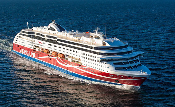 Viking Grace har lyft resandet mellan Åbo och Stockholm. Foto: Viking Line.