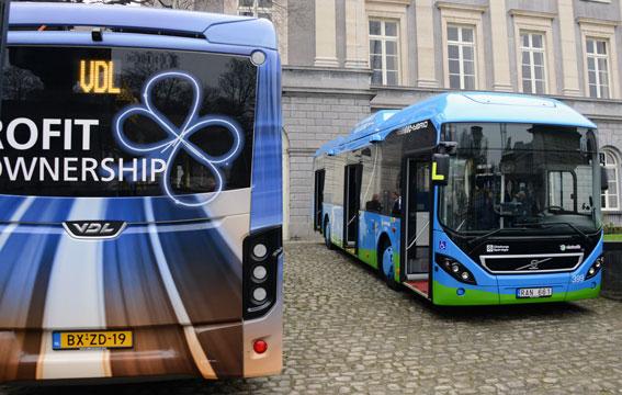 ZeEUS är ett stort europeiskt projekt för elbussar i städerna. När projektet lanserades fanns Volvo och VDL på plats med bussar. Foto: Ulo Maasing.