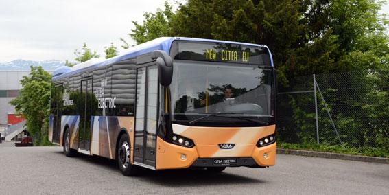 VDL:s eldrivna stadsbuss Citea Electric premiärvisades i fjol. Härnösand blir först i Sverige med bussen. Foto: Ulo Maasing.