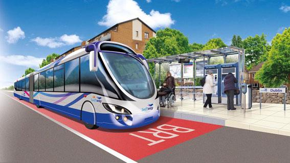 Redan nästa år kan den första BRT-linjen i Dublin vara i trafik.