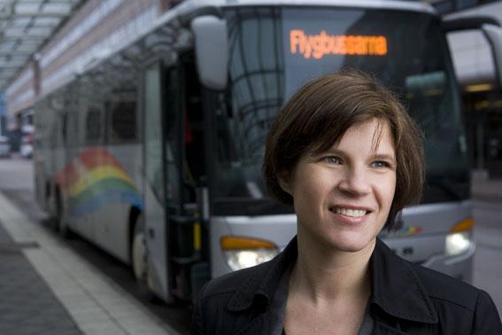 Eva Tiséus, ny marknads- och kommunikationschef på Veolia Transport. Foto: Flygbussarna.