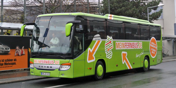 MeinFernbus är en av många nya aktörer på den snabbväxande marknaden för expressbussar i Tyskland. Foto: Ulo Maasing.