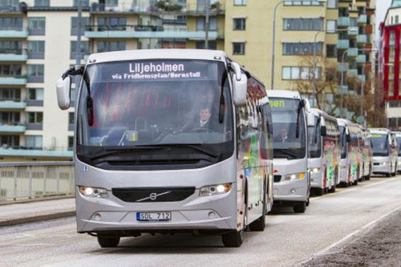 På lördag startar Flygbussarna sin nya linje mellan Arlanda och Liljeholmen i sydvästra Stockholm. Foto: Flygbussarna.
