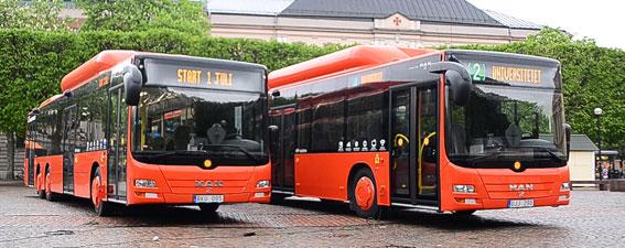 Nya bussar har gett nöjdare resenärer i Karlstad. Foto: Karlstadsbuss.