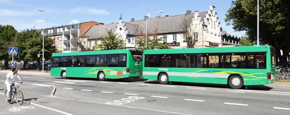 Skånetrafiken och Veolia Transport har testat bussläp i Kristianstad sedan i september. Uppskattat av resenärerna. Foto: Kasper Dudzik.