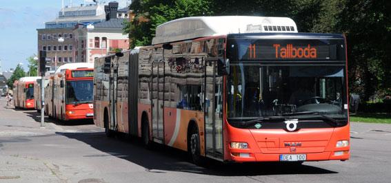 Aldrig tidigare har så många rest med kollektivtrafiken i Linköping som i fjol. Foto: Ulo Maasing.