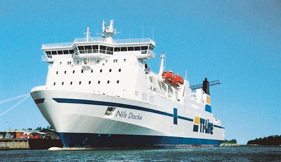 Bemanningen av TT-Lines fartyg Nils Dacke blir en fråga för Arbetsdomstolen. Foto: TT-Line.