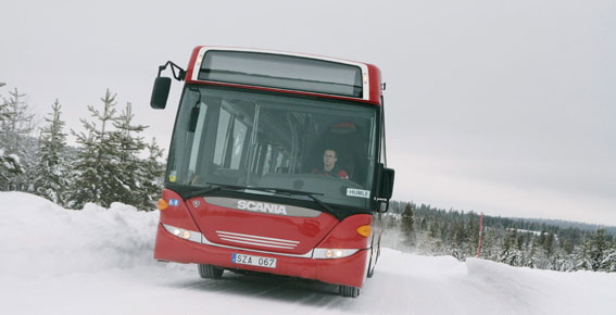 Med fyra nyregistrerade bussar toppar Scania bussregistreringarna under januari. Foto: Scania.
