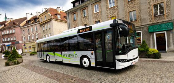 Solaris ska bland annat leverera elva hybridbussar till norska Tide. Foto: Solaris.