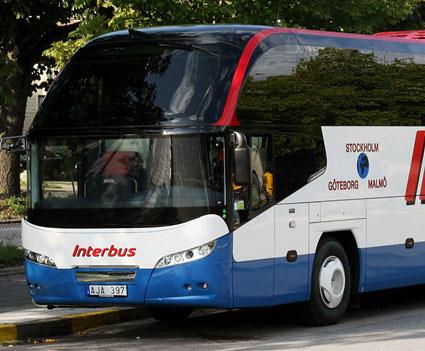 Blir inte flygbuss. Foto: Interbus.