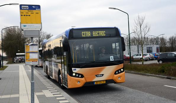 Batteribuss från den holländska tillverkaren VDL. Sverige får sin första VDL Citea Electric under sensommaren då den ska sättas i trafik i Härnösand. Foto: Ulo Maasing.