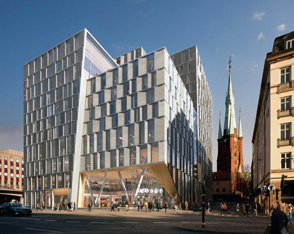 Stockholm Continental med ett nytt, stort Scandichotell öppnar 2016. Bild: Jernhusen.