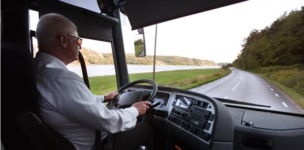 """Sista dag för fortbildning av bussförare med """"hävdvunnen rätt"""" rycker närmare. Foto: Volvo Bussar."""