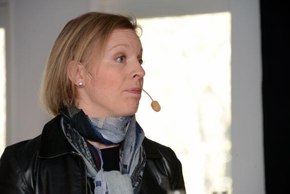 Maria Rankka, vd, Stockholms Handelskammare: Det här är smart av Humlegården. Förr frågade företag efter bra billägen, nu frågar de efter bra kollektivtrafiklägen. Foto: Ulo Maasing.