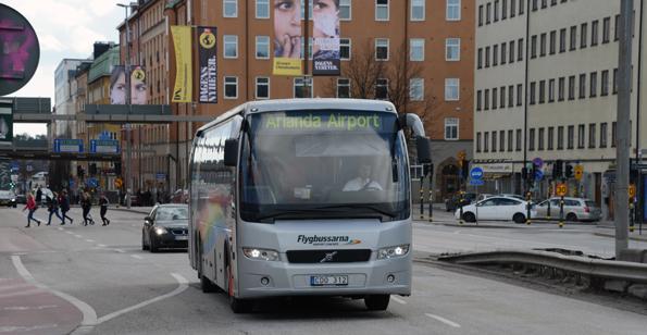 Flygbussarna knyter samman Arlanda och Bromma med hjälp av sin nya linje från Arlanda till Liljeholmen. Foto: Ulo Maasing.