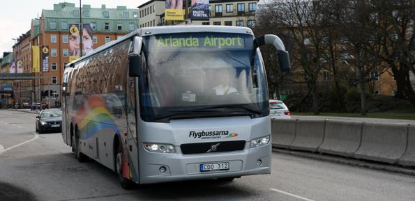 Flygbussarna är ett av de företag som är nominerade till bästa landtransport i ServiceScore 2014. Foto: Ulo Maasing.