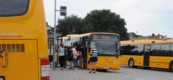 Det blir billigare att kombinera cykeln med bussresor på Gotland. Foto: Ulo Maasing.
