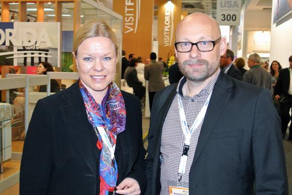 Svenska Rese-Konsulterna hade flera representanter på plats, bland dem vd:n Susanna Grävare Nyvall och Anders Nord. Foto: Ulo Maasing.
