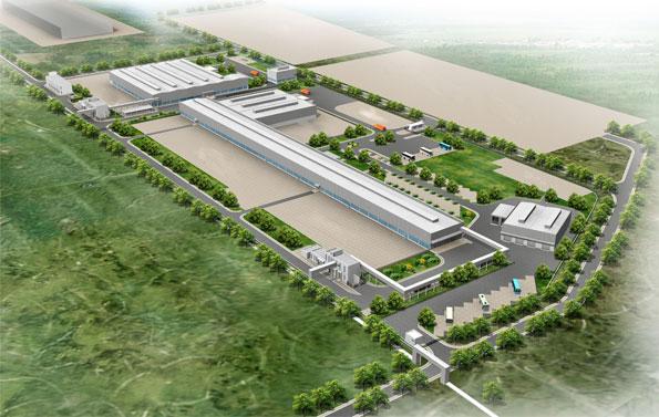 Daimlers nya bussfabrik i Chennai ligger i anslutning till den befintliga lastbilsfabriken. Bild: Daimler.