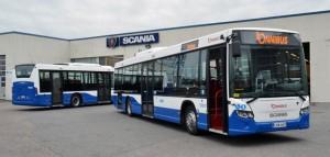 På tisdagen blev det officiellt att Onnibus säljer sin kollektivtrafikverksamhet, bl a i Tammerfors, till Koiviston Auto. Foto: Scania.