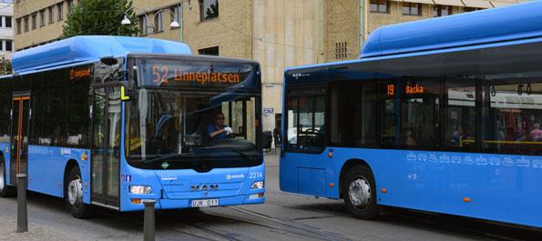 Linjerna 19 och 52 är två av de busslinjer i Göteborg där de oskattade bussarna normalt rullar. Foto: Ulo Maasing.