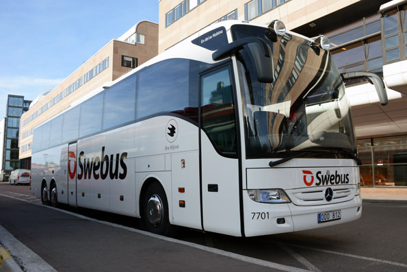 Expressbussföretaget Swebus går nu till offensiv på sin linje Oslo – Göteborg – Köpenhamn. Åtta nya Mercedes-Benz Tourismo med ökad komfort sätts in i trafiken. Foto: Ulo Maasing.