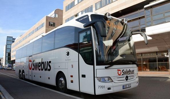 Swebus jagar marknadsföringspengar från de politiska partierna. Foto: Ulo Maasing.